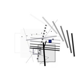 abstrakt formen gerade konzept