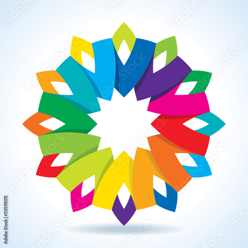 Color flower wheel background