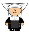 Maru Catholic nun with wings