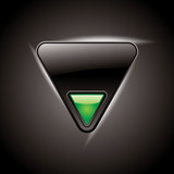 Vector metal multimedia play icon / button,