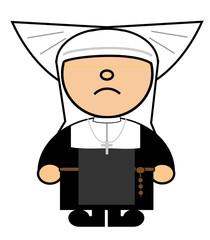 Maru Catholic nun with wings