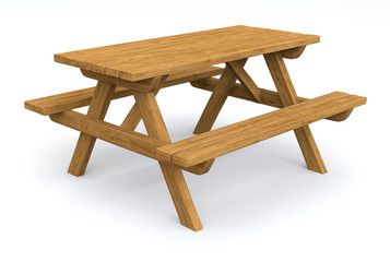 Isolated Picnic Table