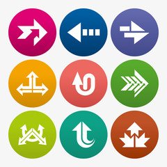 business arrow sign icon set