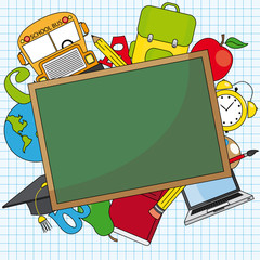 Education and school icon set. Space for text