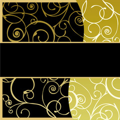 Gold & Black Card Background