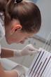 Woman doctor doing erythrocyte sedimentation rate test