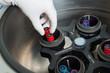 Hands in glove loading centrifuge