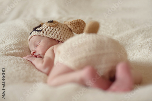 funny sleeping newborn