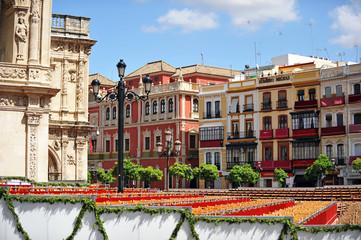 Palcos de Semana Santa en el Ayuntamiento de Sevilla
