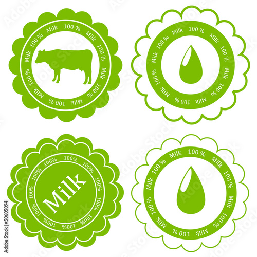 Farm animals market ecology organic milk label vector background