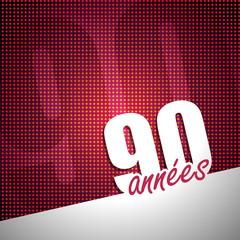 année 90 tilted pink