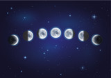 Mondphasen - Vector