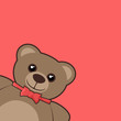Red cover bear
