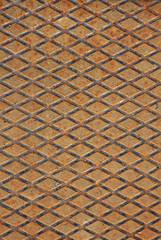 heavy diamonds grid iron used as industrial rust floor