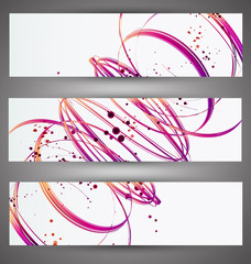 Set of bright banners. Vector