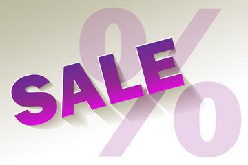Sale Lila Violett weiss Prozent
