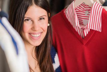 Young Woman Buying Shirt