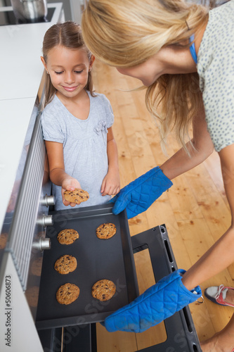 Daughter taking a cookie