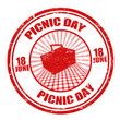 Picnic day stamp