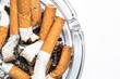 Close up overhead of ashtray