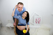 Beautiful pregnant girl and her boyfriend