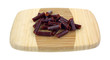 Sausage Snack Sticks Sliced Cutting Board