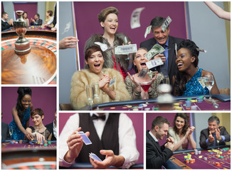 Collage of casino images