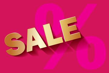 Sale Pink Rosa GOLD Prozent