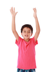 Child with open hands