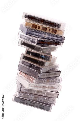 Audio K7 pile
