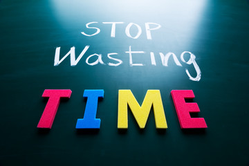 Stop wasting time concept