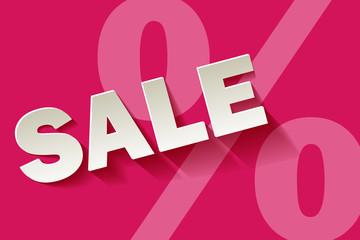 Sale Pink Rosa weiss Prozent