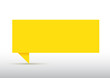 Bulle en papier jaune