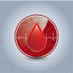Blood donation background.