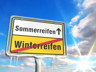 Reifenwechsel - Sommerreifen statt Winterreifen