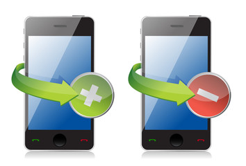 maximize and close phone icons