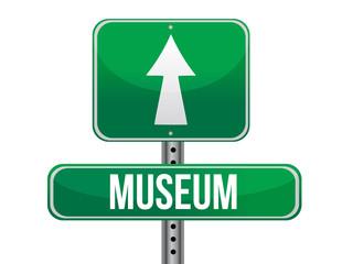 museum road sign