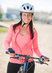 Happy Cyclist Woman