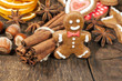 gingerbread man and spices