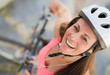 Happy Female Cyclist
