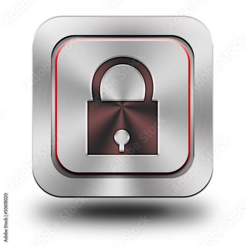 Security aluminum glossy icon