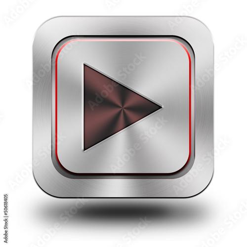 Play aluminum glossy icon