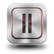Pause aluminum glossy icon