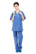 Full length nurse isolated on white