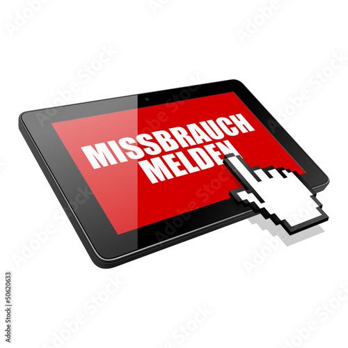 tablet missbrauch melden I