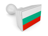 Wooden stamp with bulgarian flag.