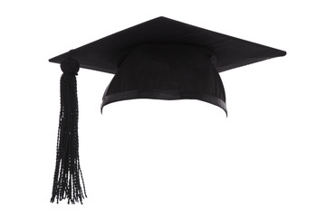 Mortar Board Graduation Cap isolated on white