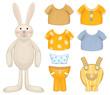 Cute dress up bunny template.