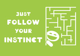 motivational quote just follow your instinct poster