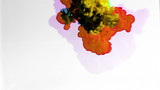abstract liquids mixing in water shot in super slow motion